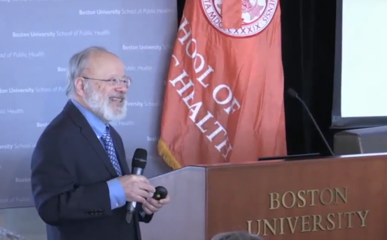 George Annas speaking at the (Public) Health and Human Rights Symposium at the Boston University School of Public Health.